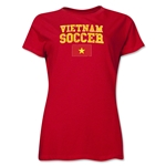 Vietnam Women's Soccer T-Shirt (Red)