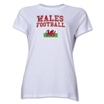 Wales Women's Football T-Shirt (White)