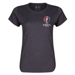 Euro 2016 Core Emblem Women's T-Shirt (Dark Grey)