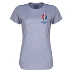 Euro 2016 Core Emblem Women's T-Shirt (Grey)