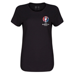Euro 2016 Core Emblem Women's T-Shirt (Black)