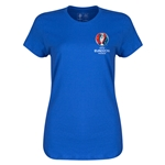 Euro 2016 Core Emblem Women's T-Shirt (Royal)