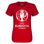 Euro 2016 Core Emblem Women's T-Shirt (Red)