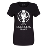 Euro 2016 Womens Soccer T-Shirt (Black)