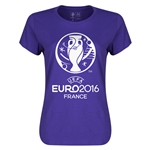 Euro 2016 Womens Soccer T-Shirt (Purple)