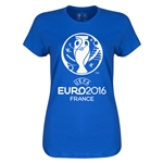 Euro 2016 Womens Soccer T-Shirt (Royal)