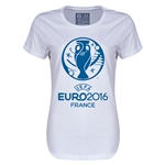 Euro 2016 Womens Soccer T-Shirt (White)