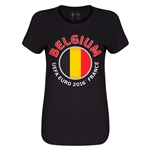 Belgium Euro 2016 Core Womens T-Shirt (Black)