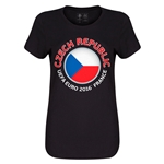 Czech Republic Euro 2016 Core Womens T-Shirt (Black)