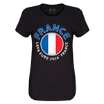 France Euro 2016 Core Womens T-Shirt (Black)
