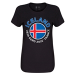Iceland Euro 2016 Core Womens T-Shirt (Black)