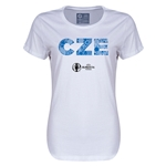 Czech Republic Euro 2016 Elements Womens T-Shirt (White)