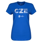 Czech Republic Euro 2016 Elements Womens T-Shirt (Royal)