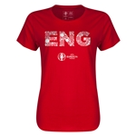 England Euro 2016 Elements Womens T-Shirt (Red)