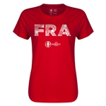France Euro 2016 Elements Womens T-Shirt (Red)