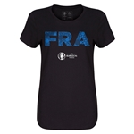 France Euro 2016 Elements Womens T-Shirt (Black)