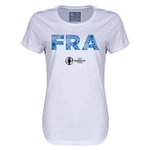 France Euro 2016 Elements Womens T-Shirt (White)