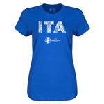 Italy Euro 2016 Elements Womens T-Shirt (Royal)