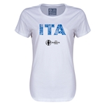 Italy Euro 2016 Elements Womens T-Shirt (White)