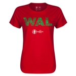 Wales Euro 2016 Elements Womens T-Shirt (Red)