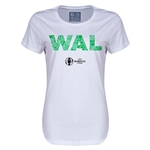 Wales Euro 2016 Elements Womens T-Shirt (White)