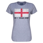 England Euro 2016 Core Womens T-Shirt (Grey)