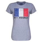France Euro 2016 Core Womens T-Shirt (Grey)