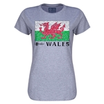 Wales Euro 2016 Core Womens T-Shirt (Grey)