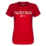 Austria Euro 2016 Core Womens T-Shirt (Red)