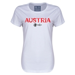 Austria Euro 2016 Core Womens T-Shirt (White)