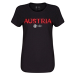 Austria Euro 2016 Core Womens T-Shirt (Black)