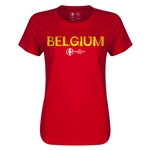 Belgium Euro 2016 Core Womens T-Shirt (Red)