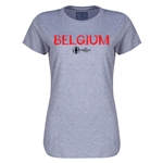 Belgium Euro 2016 Core Womens T-Shirt (Grey)