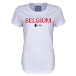 Belgium Euro 2016 Core Womens T-Shirt (White)