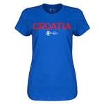 Croatia Euro 2016 Core Womens T-Shirt (Royal)