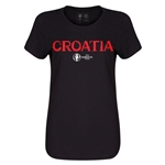 Croatia Euro 2016 Core Womens T-Shirt (Black)