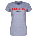 Croatia Euro 2016 Core Womens T-Shirt (Grey)
