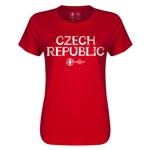 Czech Republic Euro 2016 Core Womens T-Shirt (Red)