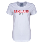 England Euro 2016 Core Womens T-Shirt (White)