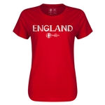 England Euro 2016 Core Womens T-Shirt (Red)