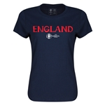 England Euro 2016 Core Womens T-Shirt (Navy)