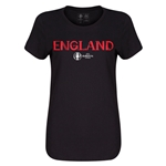 England Euro 2016 Core Womens T-Shirt (Black)