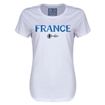 France Euro 2016 Core Womens T-Shirt (White)