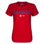 France Euro 2016 Core Womens T-Shirt (Red)