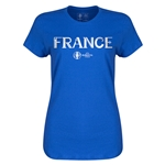 France Euro 2016 Core Womens T-Shirt (Royal)
