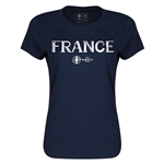 France Euro 2016 Core Womens T-Shirt (Navy)