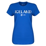 Iceland Euro 2016 Core Womens T-Shirt (Royal)