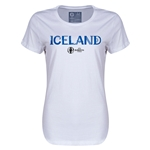 Iceland Euro 2016 Core Womens T-Shirt (White)