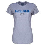 Iceland Euro 2016 Core Womens T-Shirt (Grey)