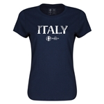 Italy Euro 2016 Core Womens T-Shirt (Navy)